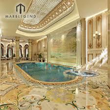 100 Interior Design Marble Flooring Custom Luxury Private Villa Waterjet 3d Service For Swimming Pool Buy Service3d