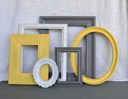 Yellow Grey White Frames Set Of 6