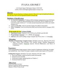 Work Experience Resume Examples For Jobs With Little Writing