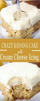 verrückter bananen kuchen mit frischkäse zuckerglasur cake