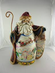 Jim Shore Halloween Ebay by Jim Shore Santa Heartwood Creek With Open Coat And Reindeer