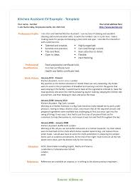 Valuable Resume Sample For Kitchen Staff House Cleaning