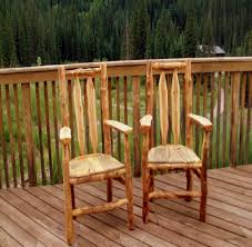 Aspen Log Furniture Outdoor