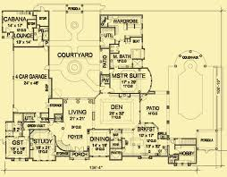 Chateau Floor Plans Mediterranean House Plans For A 4 Bedroom Luxury Chateau