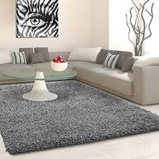 shaggy teppich für wohnzimmer groß weich 5 cm dicker flor modern schlafzimmer wohnzimmer fusselfrei grau 120 cm x 170 cm