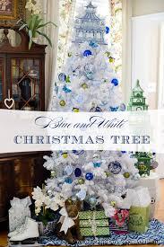 White Christmas Tree Skirt Walmart by Blue U0026 White Christmas Tree Celebrating Everyday Life With