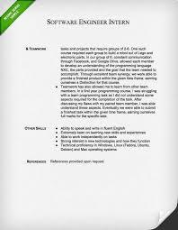 Software Engineer Intern Resume Sample 2