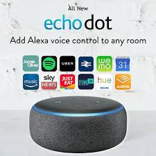 3rd new sealed echo dot smart speaker with