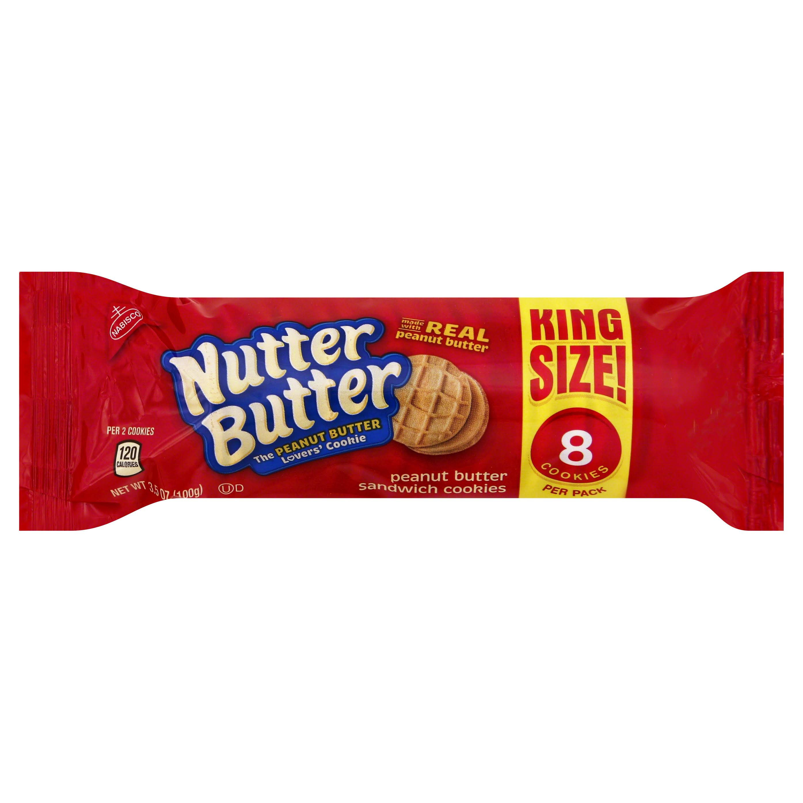 Nabisco Nutter Butter Sandwich Cookies - Peanut Butter, 3.5oz