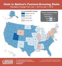 bureau of the census utah is fastest growing state missouri sees slight bump and