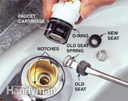 quickly fix a leaky faucet cartridge the family handyman