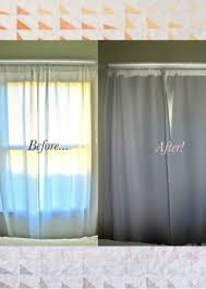 Easy No Sew DIY Blackout Curtains How Fantastic