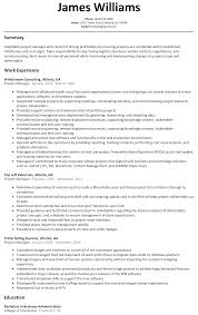 Resume Sample For Management
