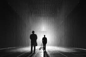 Rain Room installation simulating downpour ing to LACMA