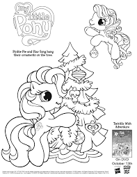 Christmas Tree Ornaments Printable Coloring Pages by My Little Pony Coloring Page Pony Craft And Printable Pictures