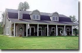 Gambrel roof barn house