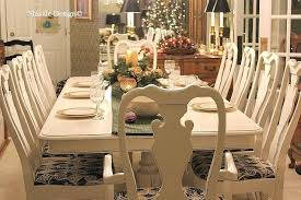 Chalk Painted Table And Chairs Dining Room Furniture Modern Makeover With