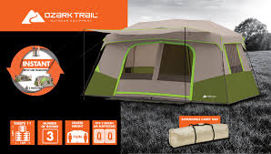 100 Ozark Trail Dome Truck Tent Big Cabin Camping Instant 11 Person Outdoor