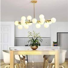 Modern 16 Modo Round Glass Chandelier Pendant Lamp Ceiling DNA LED Fixture