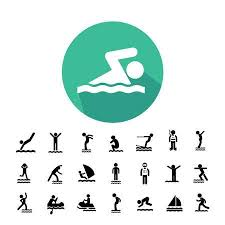 Water Sport Vector Icon Set Illustration