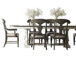 Legacy Classic Brookhaven 7PC Dining Set Table Four Side Chair Two Arm In Rustic Dark Elm