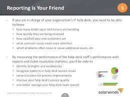 Solarwinds Web Help Desk Reports by 5 Geek Tips For Choosing The Right Help Desk Solution