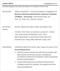 Business Resume Template Free