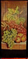 Natural Bamboo Beaded Door Curtain by Amazon Com Bamboo Beaded Curtain Fruit Grapes Kitchen Door Way