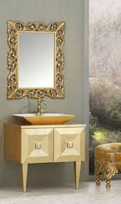 casa padrino luxus barock badezimmer set gold waschtisch mit waschbecken und wandspiegel barock badezimmermöbel edel prunkvoll