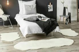 bettvorleger bettumrandung teppich kunstfell läuferset 3 teilig set schlafzimmer