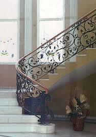 garde corps escalier balcon en fer forgé style classique le