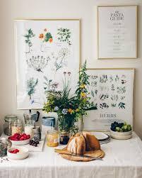 bunte küchen wandbilder kräuter poster esszimmer