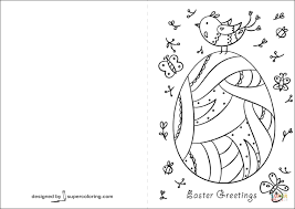 Click The Easter Greetings Card Coloring Pages To View Printable Version Or Color It Online Compatible With IPad And Android Tablets