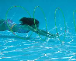 Underwater Swimming Pool Rainbow Hoops