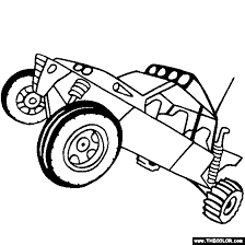 Dune Buggy Coloring Page