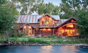 104 River Side House Side Rustic A Reclaimed Timber Home