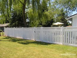 Semi-Privacy Vinyl Fence From Rick's Fencing   Landscaping Ideas ... 20 Awesome Small Backyard Ideas Backyard Design Entertaing Privacy Fence Before After This Nest Is Fniture Magnificent Lawn Garden Best 25 Privacy Ideas On Pinterest Trees Breathtaking Designs And Styles Pergola Fencing For Yards Gate Design By 7 Tall Cedar Fence With 6x6 Posts 2x6 Top Cap 6 Vinyl Fencing Provides Safety And Security Without Fences Hedges To Plant Fastgrowing Elegant