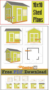 12x12 Gambrel Shed Plans by 120 Best How To Build A Shed Images On Pinterest Outdoor Sheds