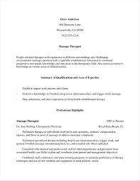 Massage Therapist Sample Rhbracukus Aba Unique Therapy S Cv Rhsevtecom Resume Objective Examples For