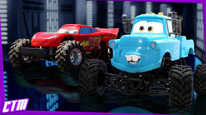 Disney Pixar CARS Monster Truck Mater & Lightning McQueen : BMX ...