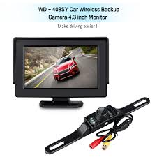 WD - 403SY Car Vehicle Backup Camera Wireless Monitor Parking ... 7inches 24ghz Wireless Backup Camera System For Trucks Ls7006w Zsmj And Monitor Kit 9v24v Rear View Cctv Dc 12v 24v Wifi Vehicle Reverse For Cheap Safety Find 5 Inch Gps Backup Camera Parking Sensor Monitor Rv Truck Winksoar 43 Lcd Car Foldable Wired 7inch 4xwaterproof Rearview Mirror 35 Screen Parking C3 C4 C5 C6 C7 Corvette 19682014 W 7 Pyle Plcmdvr8 Hd Dvr Dual Best Rated In Cameras Helpful Customer Reviews Three Side With