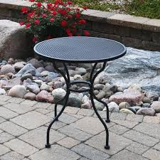 backyard creations wrought iron round cafe patio table at menards