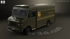 100 Ups Truck Toy 360 View Of International 1552SC P70 UPS 2015 3D Model Hum3D