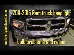 2011 2015 ram truck headlight bulb problems and repair