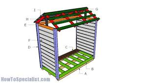 outdoor firewood shed plans howtospecialist how to build step