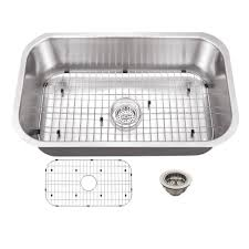 Home Depot Bar Sink Strainer by Schon All In One Undermount Stainless Steel 30 In 0 Hole Single