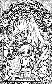Awesome Stained Glass Zelda Coloring Page Gonna Try This In Best Of Pages