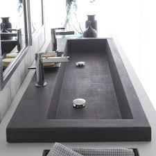 Double Faucet Trough Sink Vanity by Double Faucet Trough Sink Single Drain Bathroom Ideas O15 43