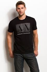 rhinestone box logo tee tee shirts mens armani exchange my