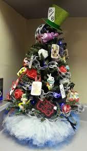 Alice In Wonderland Inspired Christmas Tree With Tutu Skirt 2013